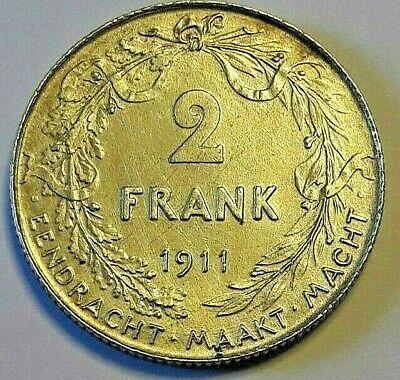 2 Francs, 2 Frank, 1911, TTB-SUP, Argent, KM:75  NL Belgïe Belgique