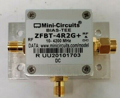 Mini-circuits Zfbt-4r2gb Rf Bias Tee Sma 50 10 To 4200 Mhz Wbase