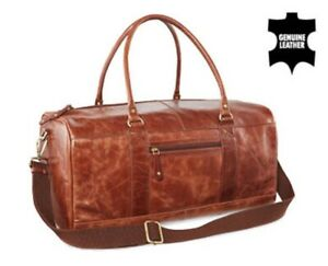 Royal Class Leather Duffle Bag (Brown)