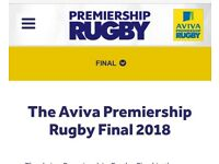 Aviva Premiership Rugby Final Ticket
