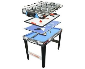 All in one games table... pool, air hockey, table tennis and foosball