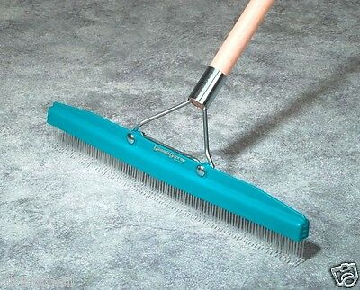 Carpet Rake Includes 18 Inch Head Pole Great For Scrubbing Chemicals Dye