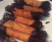 CHURROS- authentic Mexican chocolate dipped churros, delicious!