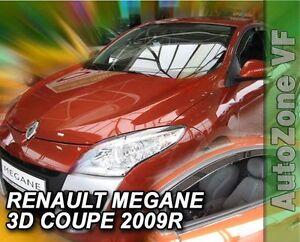 DRE27175 RENAULT MEGANE COUPE 3DOOR 2009-up WIND DEFLECTORS 2pc HEKO TINTED