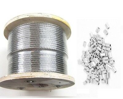 25 50 75 100 200 250 500 1000 132 T316 Stainless Steel Cable Sleeves