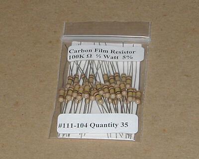 35pcs 47 Ohm 1//2 Watt   5/% Carbon Film Resistors New Stock  USA Seller