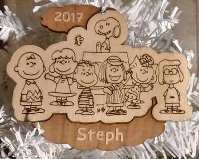 Charlie Brown Christmas Ornament - Personalized with Name + Year - Snoopy Gift