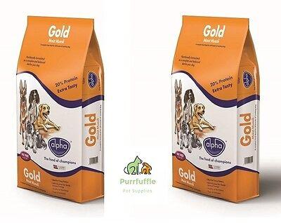 2x 15KG BAGS ALPHA GOLD MOIST MUESLI COMPLETE DOG FOOD FUSSY EATERS BULK BUY