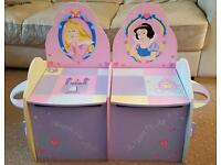 Disney Princess Chairs with Storage Chests