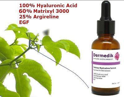 60% MATRIXYL 3000 + 25% ARGIRELINE + HYALURONIC ACID + EFG SERUM ANTI WRINKLES