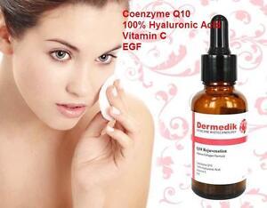 coenzyme q10 acide hyaluronique vitamine c egf s rum de collag ne 1oz ebay. Black Bedroom Furniture Sets. Home Design Ideas