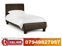 Single Leather Bed Frame Only Or Orthopaedic, Memorey Foam Mattress Options For You JAHSN