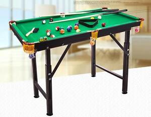 """47"""" Foldable Pool Table Home Mini Billiard Table Set Kids Toy Item Number 190093"""