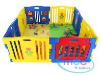 8 Sides Large Foldable Plastic Baby Playpen With Educational FunctionsNEW
