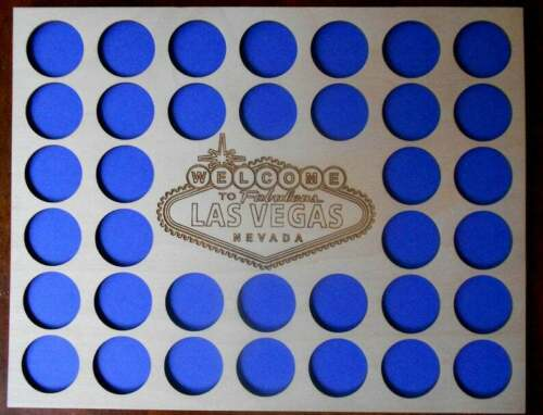 36 Poker Chip Display WITH FRAME For Harley Davidson/Casino Las Vegas Sign 2