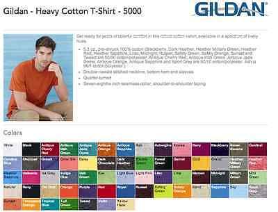 35 Gildan G500 Heavy Cotton T-Shirt Wholesale Bulk Lot ok to mix S-XL & Colors