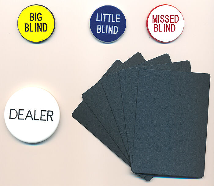 Casino Grade Items DEALER BUTTON Set BLIND BUTTONS CUT CARDS Hold