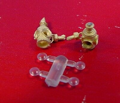 O/On3/On30 WISEMAN BACK SHOP BRASS PARTS BS-198 ADLAKE MARKER LAMPS WITH BRACKET