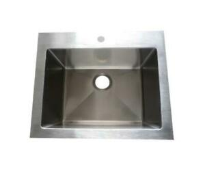12 Stainless steel Top mount Laundry Sink - Laundry Tub 26 x 25 x 12