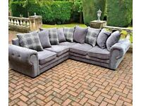 BRAND NEW LUXURY VERONA CHESTERFIELD CORNER AND 3+2 SOFA SET AVAILABLE ORDER NOW