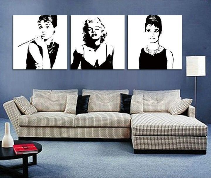 Marilyn monroe bedroom set - Black And White Canvas Wall Art Buying Guide Ebay