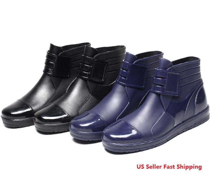 Men's Restaurant Oil Resistant Kitchen Work Shoes Non slip Water rain shoe