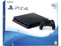 PS4 SLIMLINE MODEL AS NEW WITH RECEIPT.
