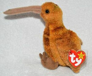 Beak the Kiwi Bird Ty Beanie Baby stuffed animal