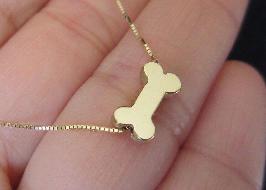 Solid 925 Sterling Silver Polished Dog Bone Pendant Charm