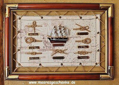 Maritime Deko Knotentafel ca.47 x 33 cm
