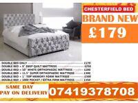 **BRAND NEW CHESTERFILED DOUBLE SINGLE CRiUSH BED**