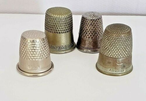 Vintage Collectible 4 thimbles one from Spain and one from Austria
