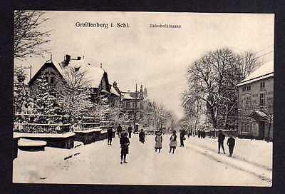 108831 AK Greiffenberg Schlesien Bahnhofstrasse im Winter 1928