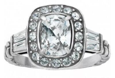 Brighton Silver REINA Sparkle Halo RING 💍 SIZE 9 clear swarovski crystal 💎 NWT