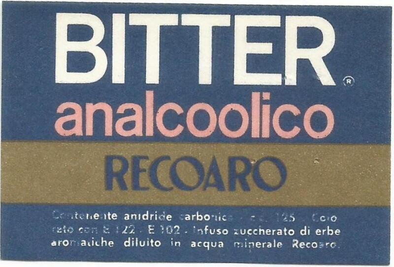 Label-BITTER analcoolio RECOARO,Italy carbonated mineral water= ProductsOverTime