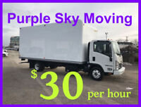 Toronto and GTA --- MOVERS / MOVING --- CHEAP  --- $30 per hour-