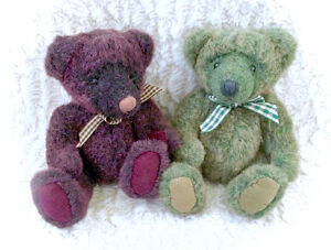 Two Gorgeous Collectable Country Style Teddy Bear Plush Plushies