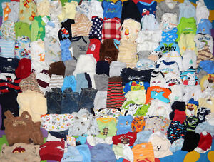 HUGE Lot of 122 items - Baby BOY clothes - 0 to 3 months old