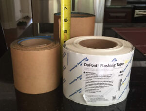 3 Partial Rolls of Blueskin and DuPont Flashing Material