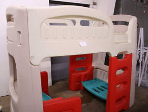 STEP 2 Sturdy plastic bunk bed