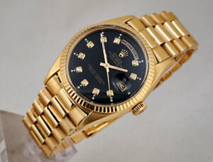 VINTAGE ROLEX PRESIDENT DAY-DATE 18K GOLD 1803 OYSTER CHRONOMETE