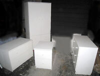 White Ikea Bedroom Furniture, 4 items,deliv possib$$,read inside