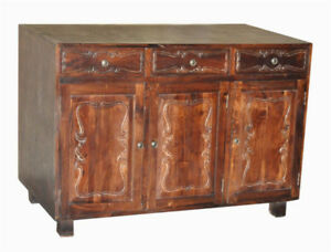 Solid Wood Rustic Free Standing Kitchen + Bath Cabinet + Island