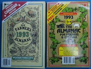 1993 OLD FARMER'S ALMANAC AND FARMER'S ALMANAC