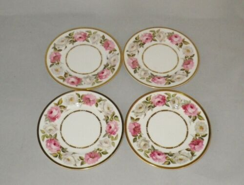 Royal Worcester ROYAL GARDEN Bone China Bread Plates ~ Set of 4