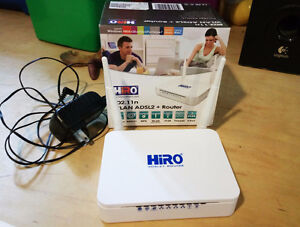 HIRO ADSL2 + Router with WIFI b/g/n