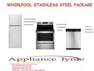 Brand New Whirlpool Stainless Steel Package