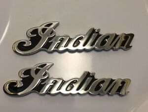 Indian Motorcycle Chrome Gas Tank Badges and Chrome Conchos