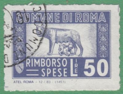 Italy Roma Rome Municipal Revenue Koeppel  145 Used 50L Atel Roma Cv  20