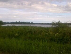 Vacant land overlooking small lake........